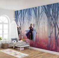 Giant Wall mural Wallpaper Frozen 2 Disney chlildren's beedroom blue DECOR Elsa