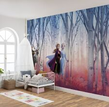 Giant Wall mural Wallpaper Frozen 2 Disney chlildren's beedroom blue DECOR Elsa