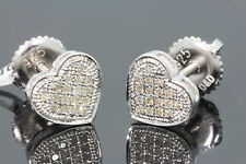 .13 CARAT WHITE GOLD FINISH MENS WOMENS 8mm 100% REAL DIAMONDS EARRINGS STUDS