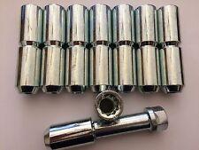 16 x M14X1.5 SILVER SINTONIZZATORE interno cerchi in lega NUTS + tasto si adatta CADILAC ATS CTS