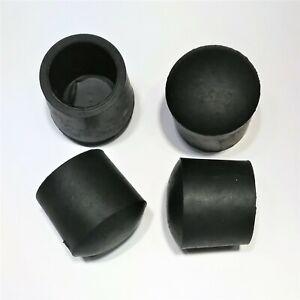 Ø 21-22 mm Fußkappe schwarz rund Rohr-kappe Gartenstuhl Stuhlkappe  gummi