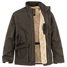 NWT 6144J MEN TIMBERLAND RAGGED MILITARY BROWN FLEECE LINED  COAT JACKET XL *