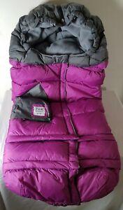7AM Enfant Blanket B212e Evolution Stroller Car Seat Foot Muff Deep Pink Purple