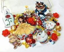 Beauty And The Beast Character Decoden Kit Flower Cabochons, Jewels, Pearls Gems