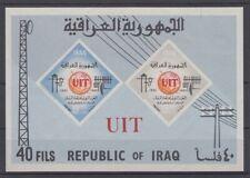 IRAQ 1965 CENTENARY OF ITU MINI SHEET UHM IMPERF (ID:817/D51409)