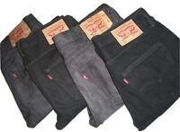 Mens LEVIS 501 Black Denim Jeans W30 W31 W32 W34 W36 W38