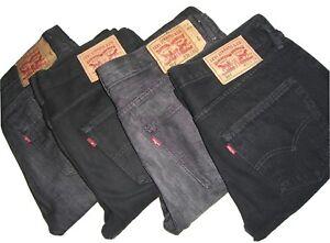 Mens LEVIS 501 Black Denim Jeans W30 W31 W32 W34 W36 W38 W40