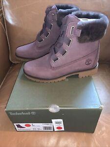 NIB Timberland Women's Jayne Convenience Dark Purple Boots A298A - size 6.5