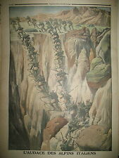 Gal MICHELER CAURIOL AUDACE DES CHASSEURS ALPINS ITALIENS LE PETIT JOURNAL 1916