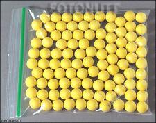 100 Premium .68 Cal Reusable Red Rubber Training Balls Paintballs Reballs