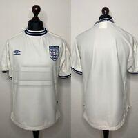 90's Vintage England National Team 1998/1999 Home Jersey Shirt Size L Umbro
