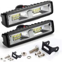 2x DC12-24V LED Car SUV Off-Road Work White Light Bar Spot Beam Driving Fog Lamp