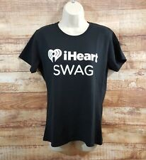 iHeart Radio Music Festival Village SWAG Macys T-shirt Black Ladies size M