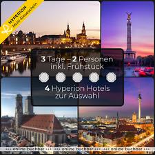 Städtereise 3 Tage für 2 - 4 HYPERION Hotels 1 Hotelgutschein Luxus Wochenende