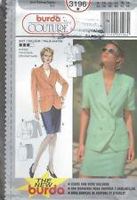burda 3196 Misses' Jacket and Skirt 8 to 18 *Rare*   Sewing Pattern