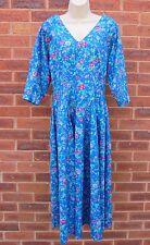 Vintage Laura Ashley Floral Cotton Tea Dress Size 14 UK /40 EU/12 US.NEAT