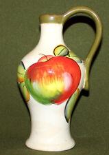 Vintage hand painted fruits porcelain pitcher