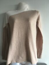 ADOLFO DOMINGUEZ Ladies Wool Cotton Blend Two tone Polo Neck Knit Jumper XS