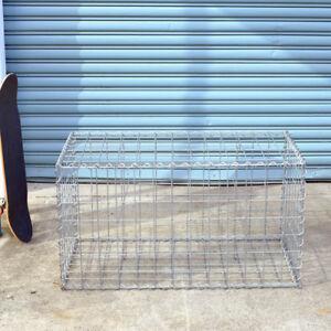 Gabion Cage 975mm L x 525mm W x 525mm H, 75x75mmx4mm, AL-TEN Garden Bench, Edge
