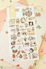 Cat Stickers cute cartoon Keep Calm Love Cats kawaii kitty planner diary sticker