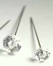 """20 x Clear Diamante Style Hat / Florists / Corsage / Pins - 2.5"""" (63mm)  long"""