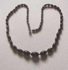 Collane e pendagli di bigiotteria neri ovale in vetro