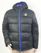 Champion Mens Hooded Puffer Coat Size Large Black NEW