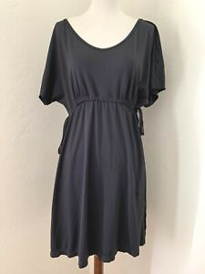 UV Skinz Womens Cover up Short Dress Large black cinched waist Upf 50+