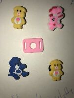Care Bears Lot Of 5 With Lace Adapter, Crocs Shoe,Bracelet Charms,Jibbitz