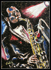 Saxophonist artprint colección volker Welz jazz Ornette Coleman funk blues ak