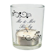 Personalised Ornate Swirl Votive Candle Holder Birthday Wedding Christmas