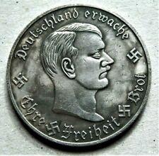 WW2 GERMAN COLLECTORS COIN ADOLF HITLER 1932 EIN BAUSTEIN