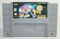 Tetris 2 SNES Super Nintendo Authentic, Cleaned & Tested! Works Great! NICE!
