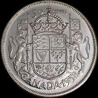 1958 Canada 50 Cents (Silver) - CH UNC