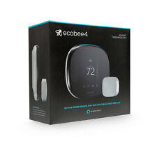 Ecobee4 Wi-Fi Thermostat with Built-In Amazon Alexa - Black