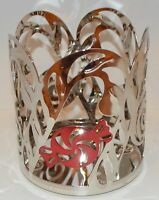 YANKEE CANDLE CANDY CANE PEPPERMINT MOSAIC JAR CANDLE HOLDER SLEEVE METAL CHROME