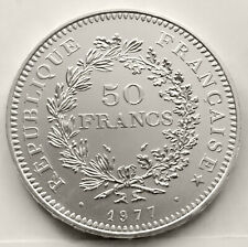 FRANCE 50 FRANCS 1977 ( HERCULES GROUP ) SILVER Coin (KM# 941) XF+