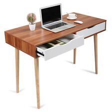 Modern 2-drawer Computer Home Office Writing Desk Workstation PC Laptop Table