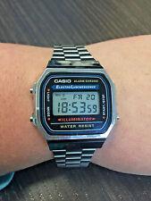 Casio A168 Men's Classic Electro Luminescence Illuminator Digital Watch