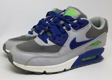 Nike Air Max 90 Size UK 5.5 Grey Green Purple 724824 Unisex Trainers VGC