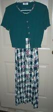 Vintage LA Los Angeles Gal 2-pc Crinkle Maxi Dress & Jacket Size S-M