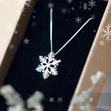 pure 925 silver romantic snow beautiful fashion wedding party charm neckles