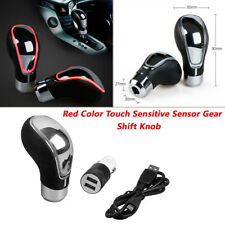 1PC Red Touch Activated Sensor LED Light USB Charge Car Auto Gear Shift Knob