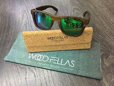 WOOD GARS lunettes bois lunettes de soleil Jalo Brun/vert polarisé