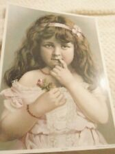 ANTIQUE PRINT LITTLE GIRL  PRINCESS REPRODUCTION VICTORIAN GALLERY 2002