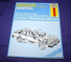 Haynes Repair Manual Nissan/Datsun Sentra 1982-1988 1983 1984 1985 1986 1987