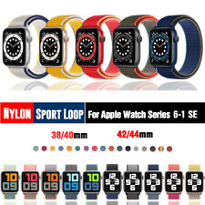Anel De Esporte De Nylon Para Apple Watch Series 6 5 4 3 2 se Iwatch Pulseira De 40mm 44mm