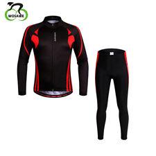Men Cycling Jacket Set Bike Suit Clothing Bike Gel Padded Trouser Breathable Top