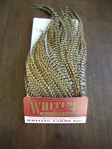 Fly Tying-Whiting Farms Bugger Pack Barred Dark Ginger