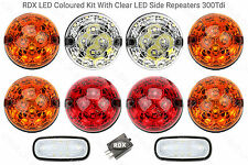RDX 300 Tdi LED Coloured 8 Lamp Lights Kit + Side Repeaters Land Rover Defender
